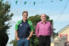 St Ita's GAA club secretary Shane Supple pictured with his father and club VP, Art Supple, in Gortroe village, east Cork. Local hurler Seamus Harnedy will line out for Cork against Clare in Sunday's All Ireland Hurling Final in Croke Park. Pic Daragh Mc Sweeney/Provision